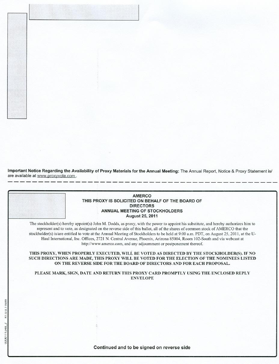 PROXY CARD (2 0F 2)