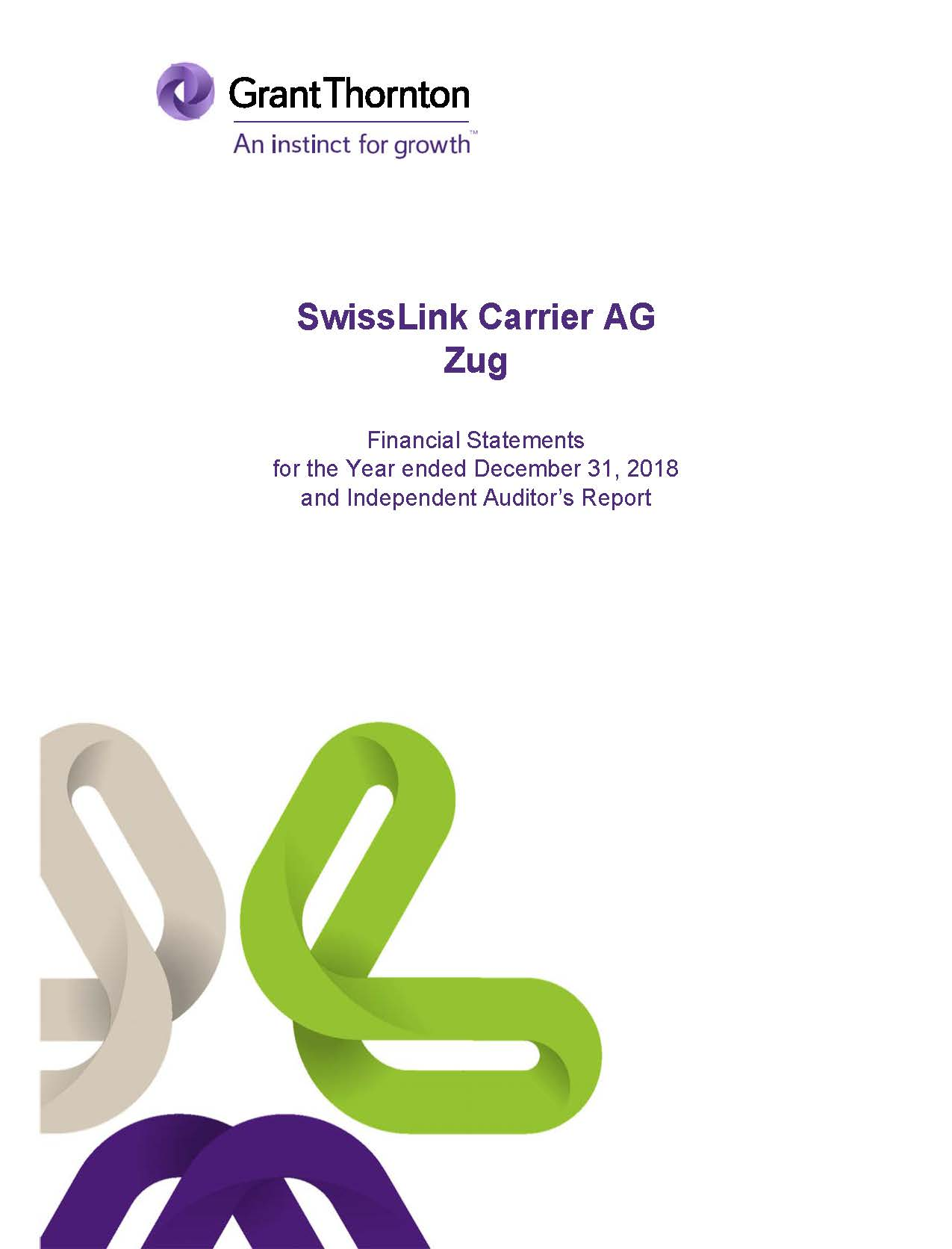 REPORT OF THE AUDITOR - SWISSLINK AG 31.12.18 (IFRS) EXHIBIT 99.2.JPG